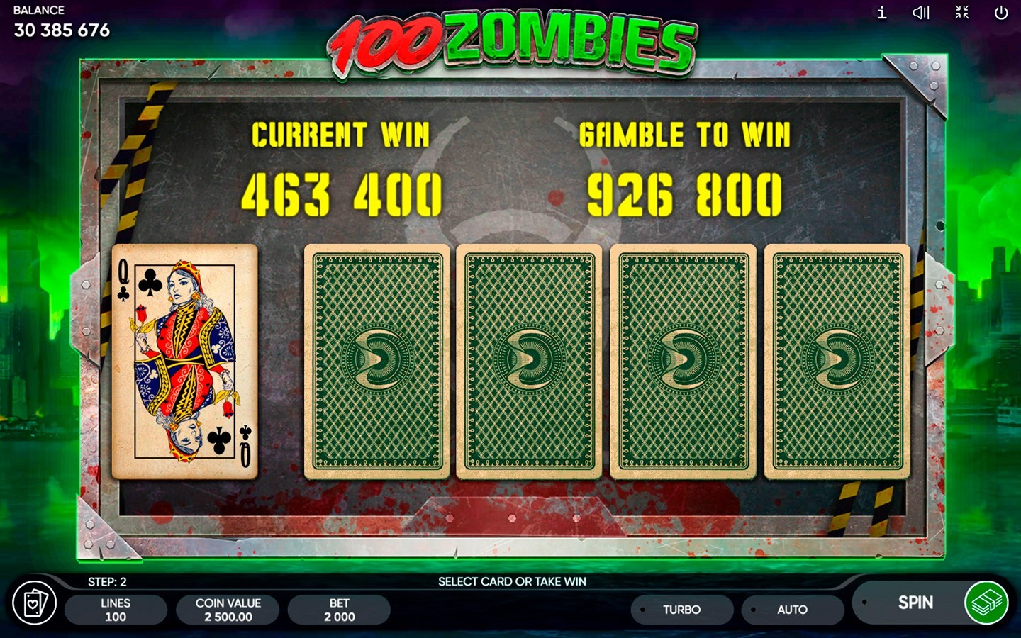 100 Zombies Slot Machine - How to Play