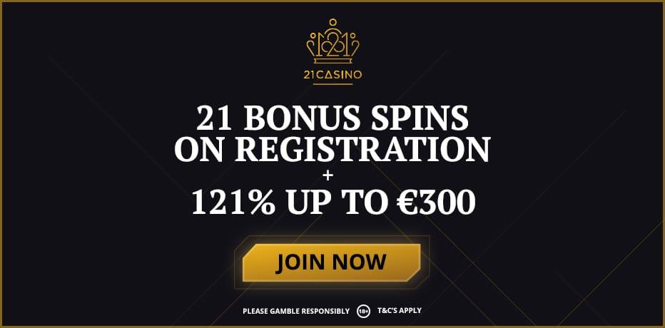 21casino bonus