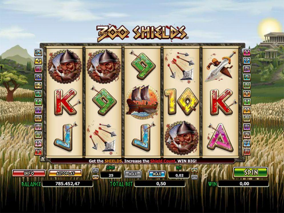 300 Shields Slot Machine - How to Play