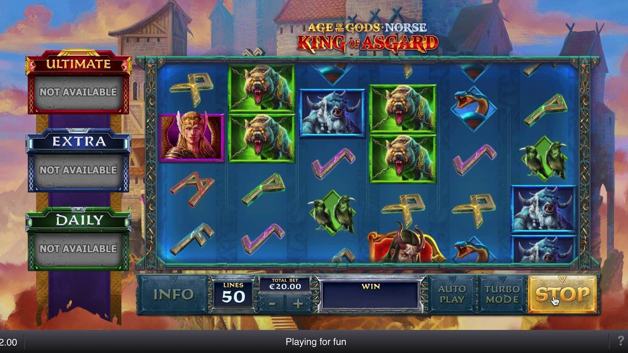 Age of Asgard Slot Machine - How to Play