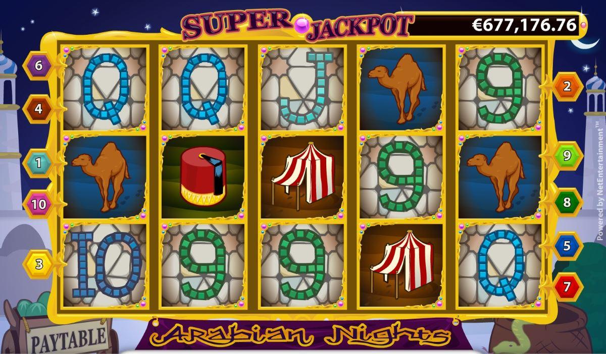 Arabian Nights Slot Machine - How to Play