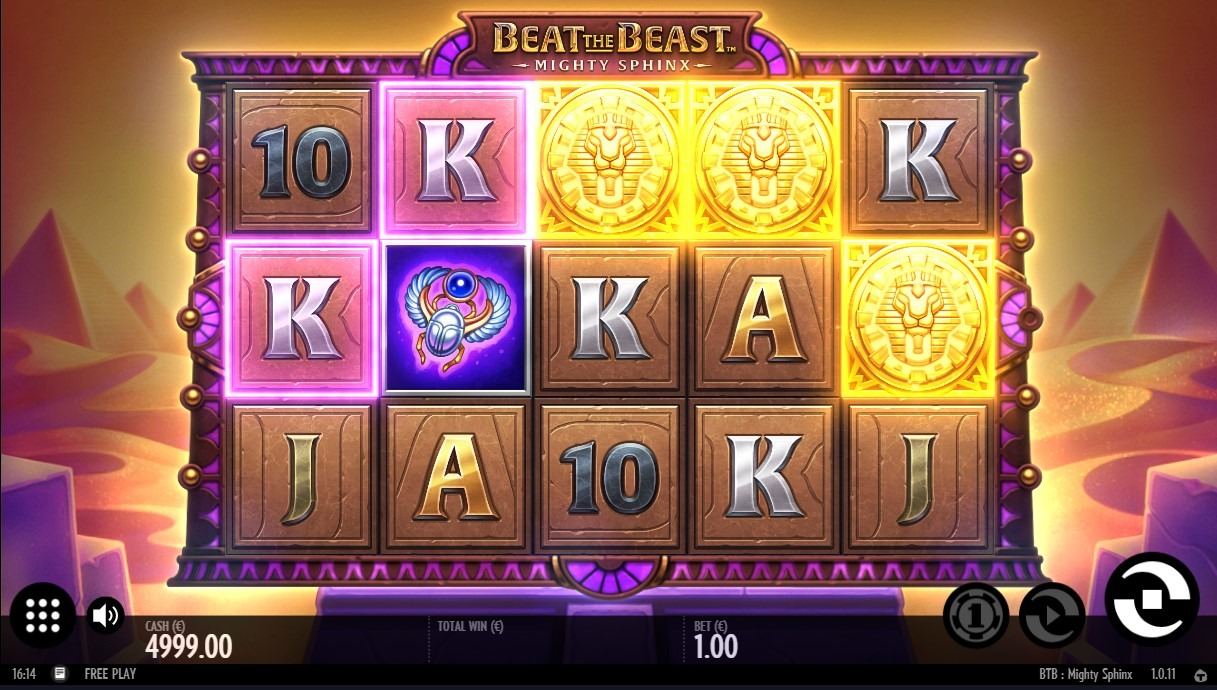 Beat the Beast: Mighty Sphinx Slot Machine - How to Play