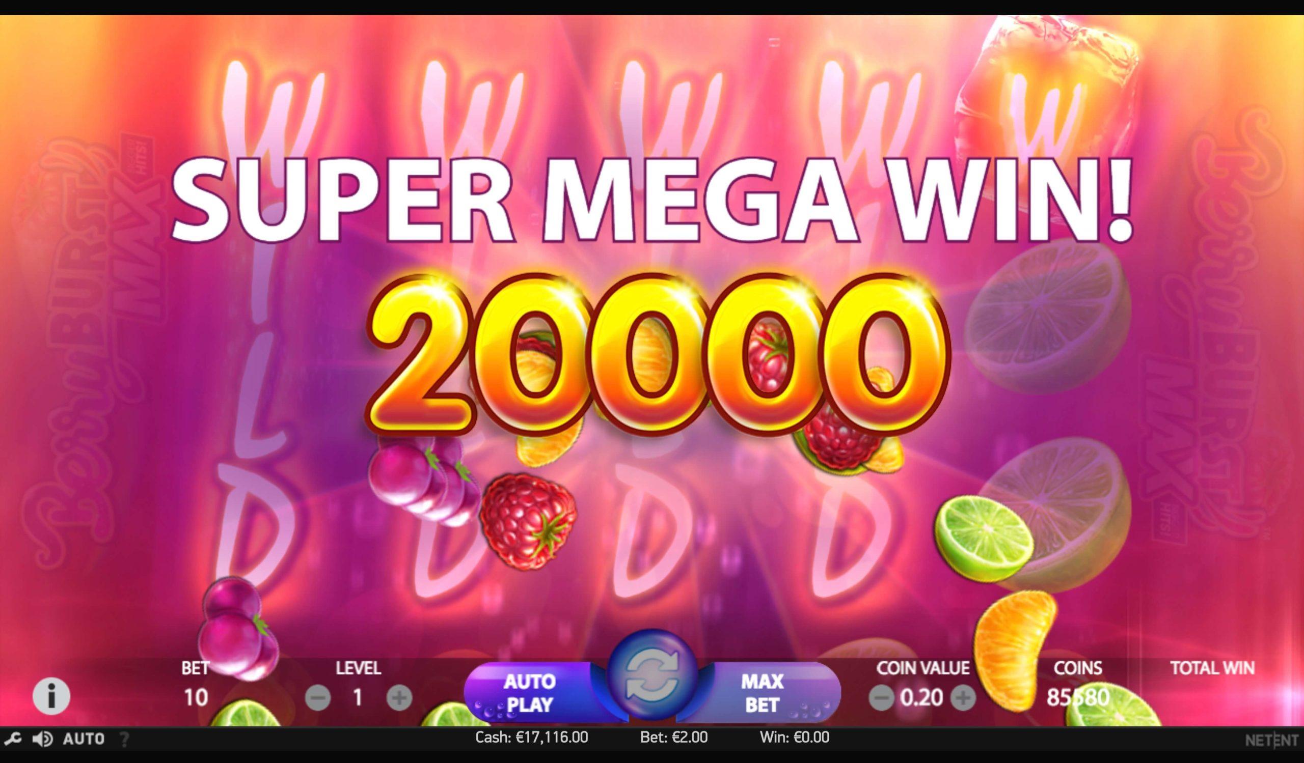 Berry Burst Max Slot Machine - How to Play