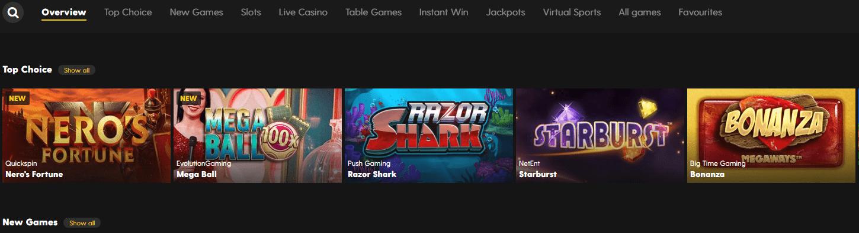 bethard casino games