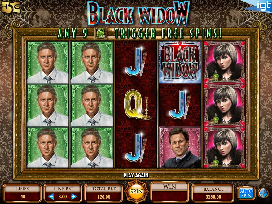 Black Widow Slot Machine - How to Play