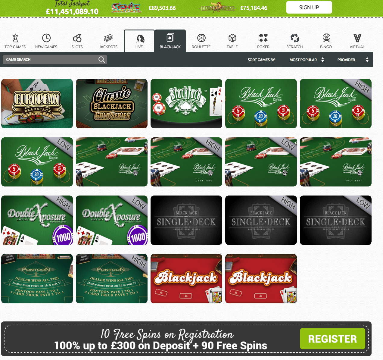casilando casino games
