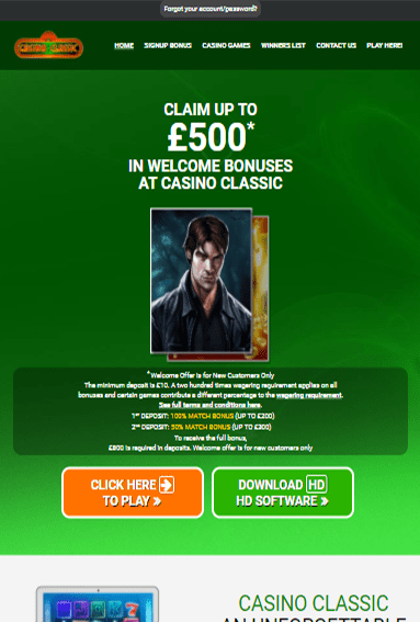 Casino Classic iOS & Android tablets