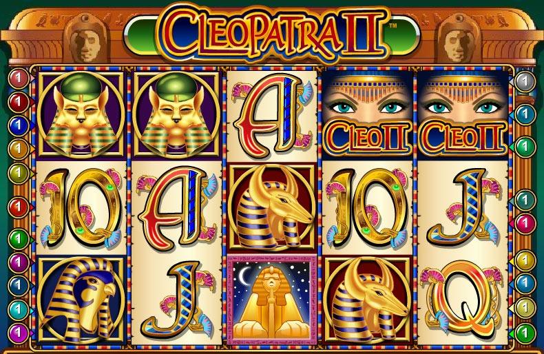 Cleopatra II Slot Machine - How to Play