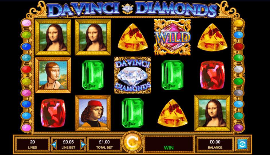 Da Vinci Diamonds Slot Machine - How to Play