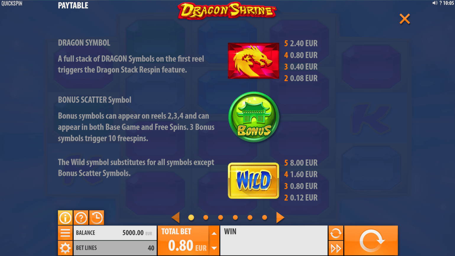 Dragon Shrine Slot Game Symbols and Winning Combinations