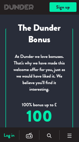 Dunder iOS & Android mobile devices