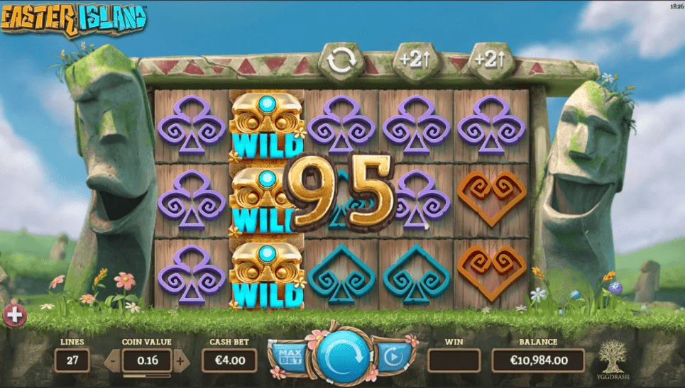 Easter Island Slot Machine - How to Play