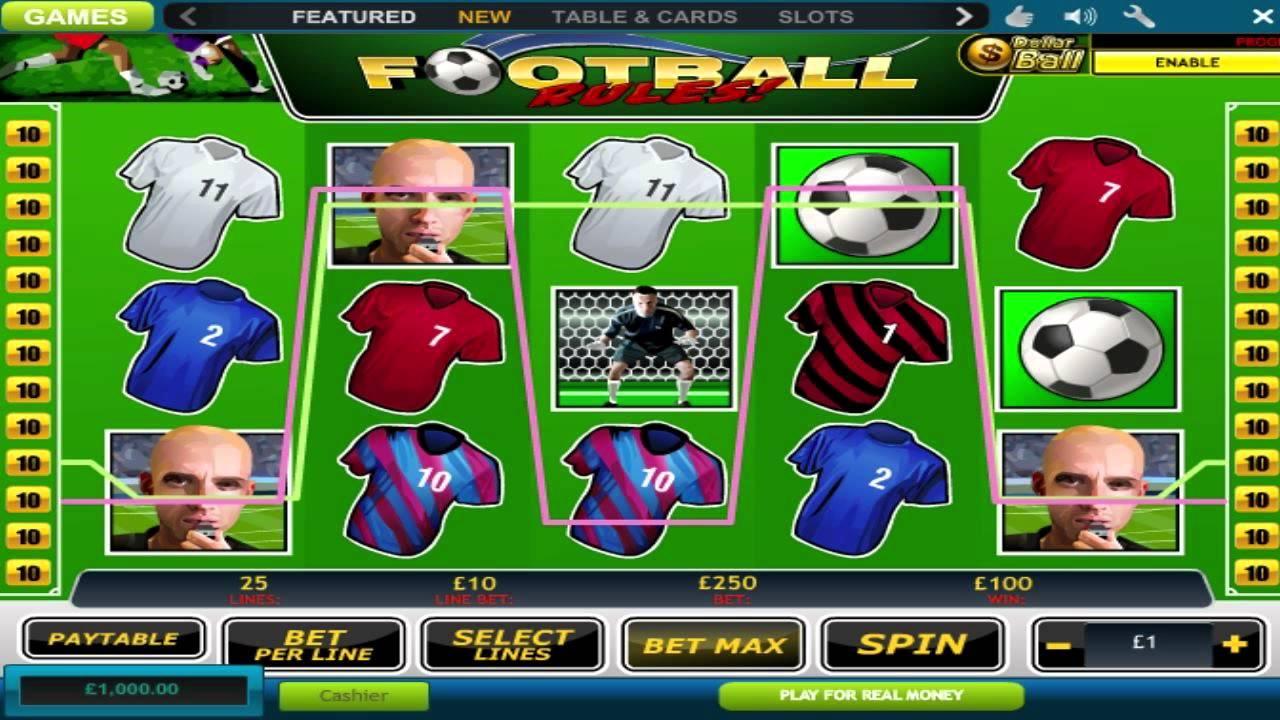 Football Slot Machine - How to Play