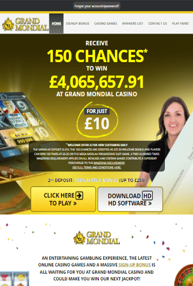 Grand Mondial Casino iOS & Android tablets