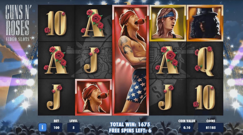 Guns n Roses Slot Machine - How to Play