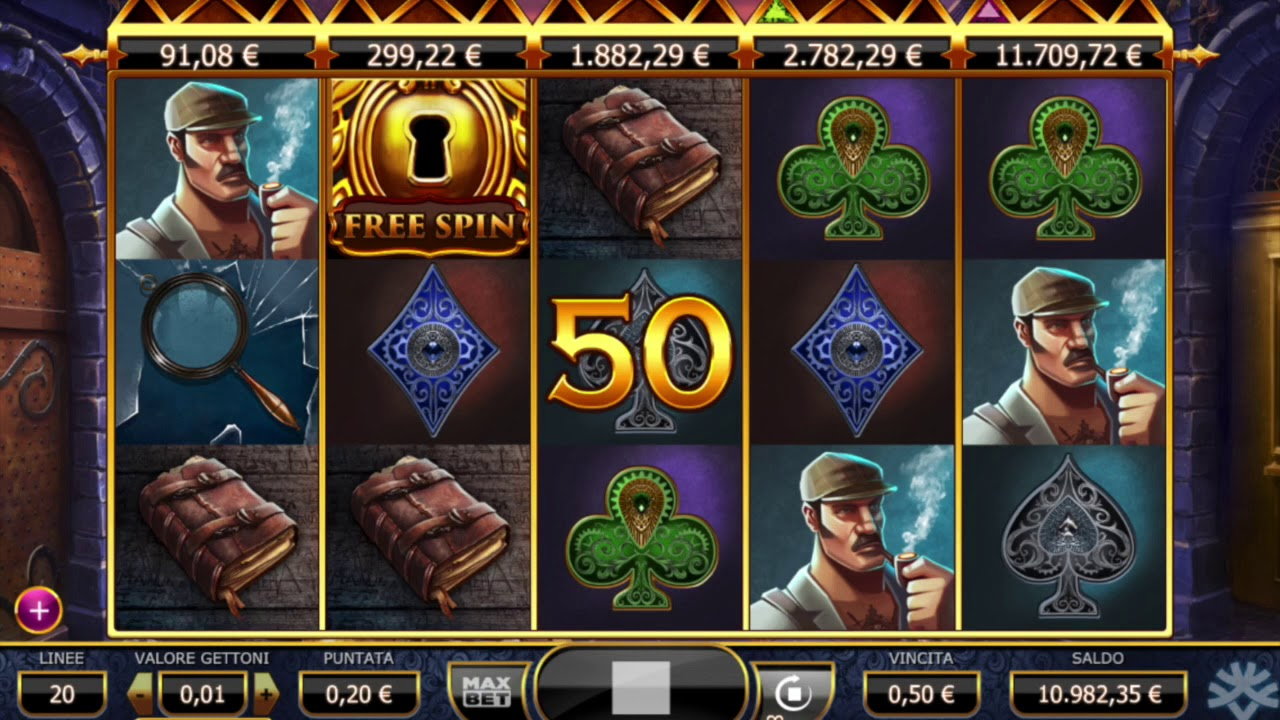 Holmes & the Stolen Stones Slot Machine - How to Play