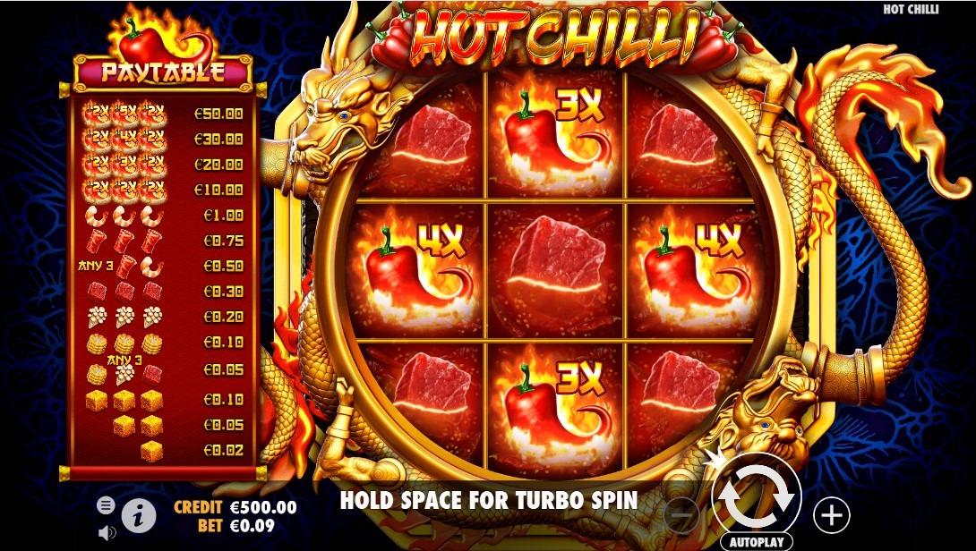 Hot Chilli Slot Machine - How to Play