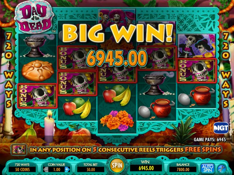 Day of the Dead Slot Machine - How to Play