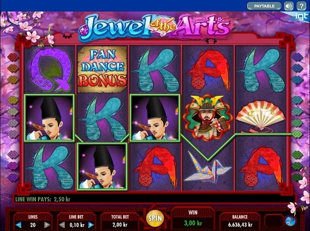 Jewel of the Arts Slot Game Symbols and Winning Combinations