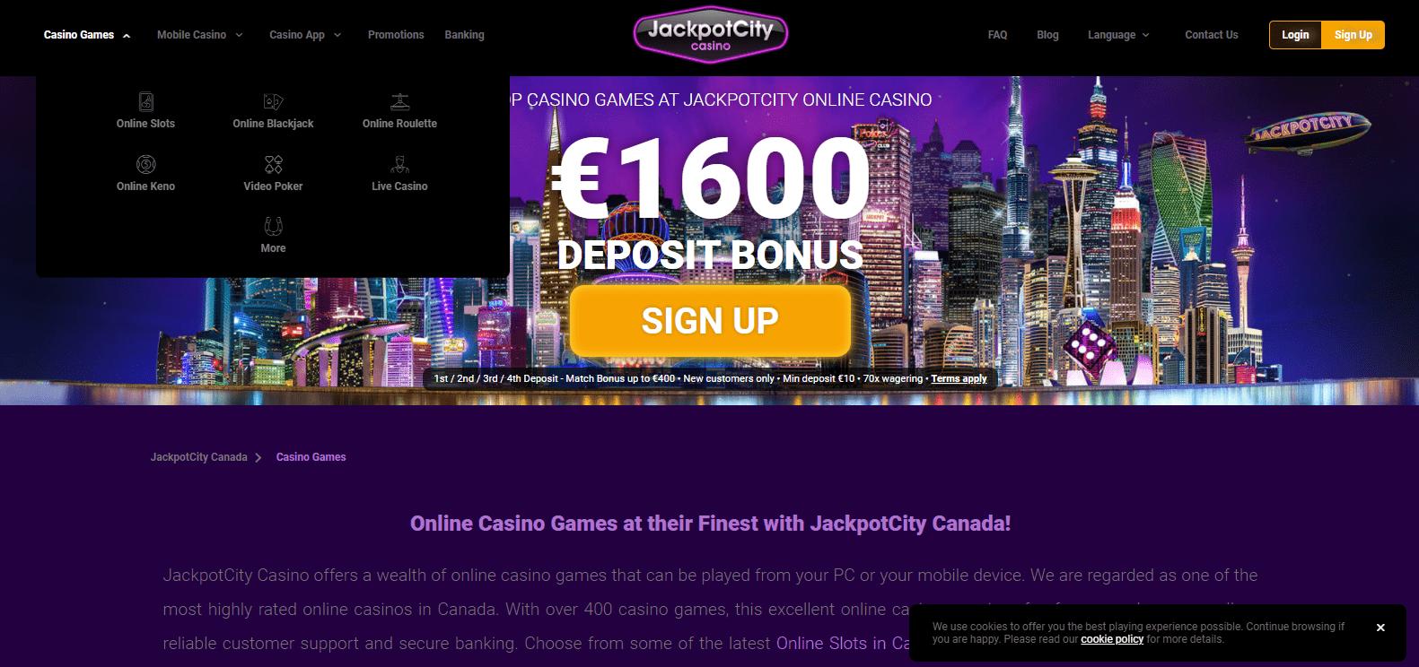 Jackpot City Casino games
