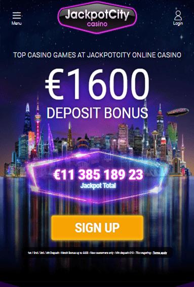 Jackpot City Casino iOS & Android tablets