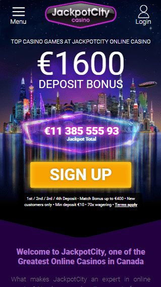 Jackpot City Casino iOS & Android mobile devices
