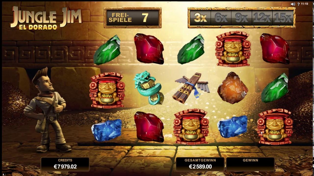 Jungle Jim - El Dorado Slot Game Symbols and Winning Combinations