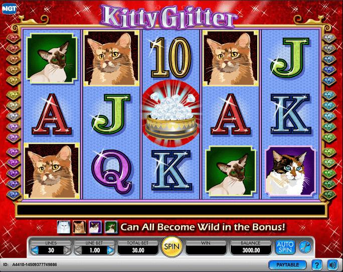 Kitty Glitter Slot Machine - How to Play