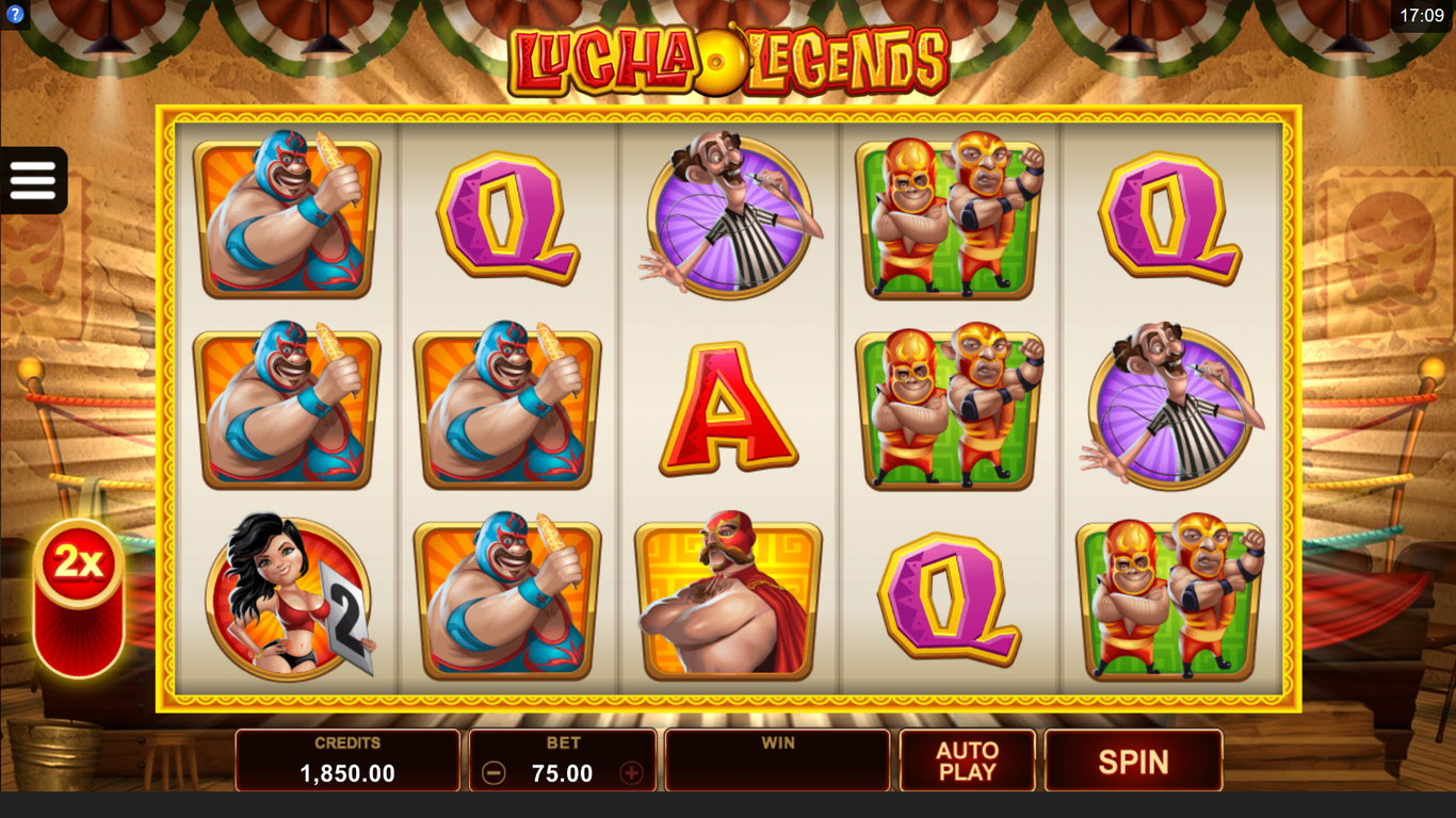 Lucha Legends Slot Machine - How to Play
