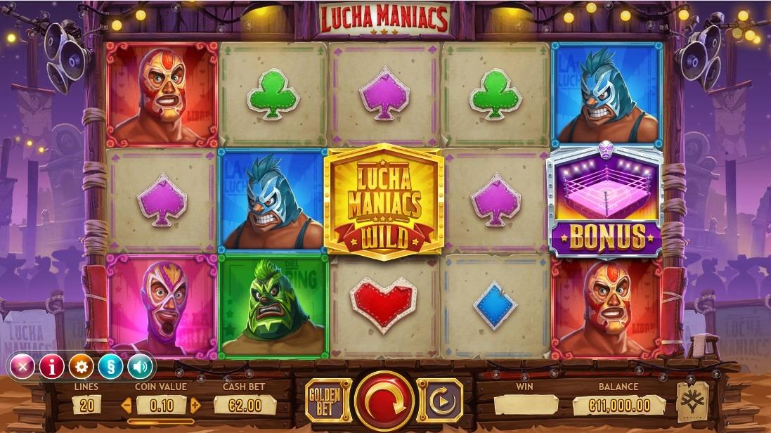 Lucha Maniacs Slot Machine - How to Play