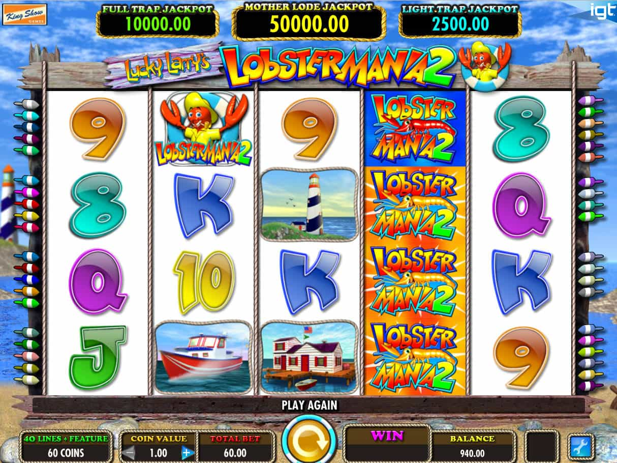 Lucky Larry's Lobstermania 2 Slot Machine - How to Play