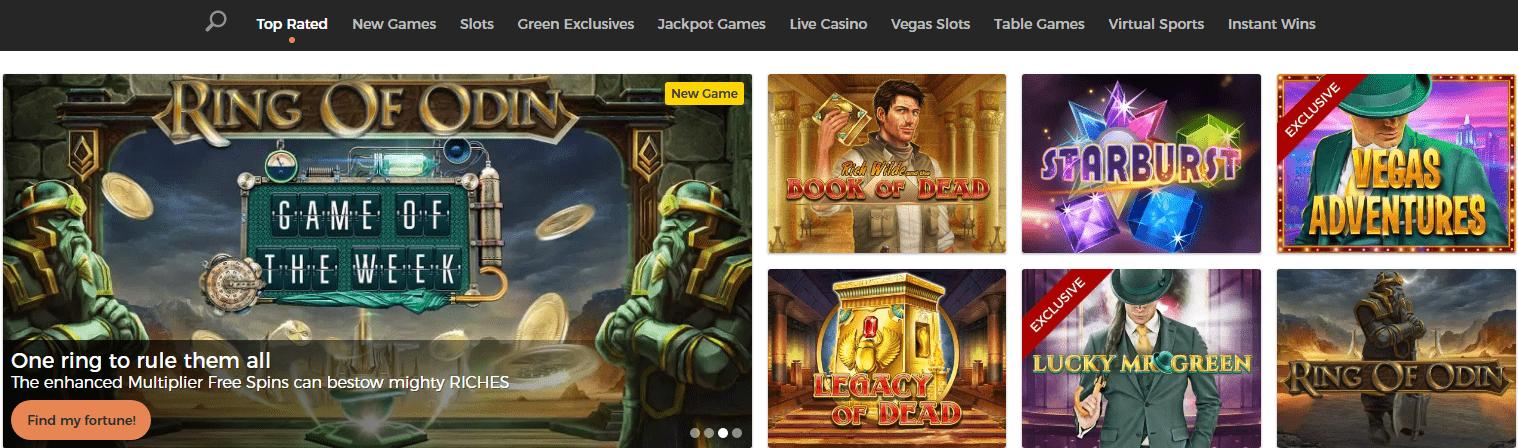 mrgreen casino games