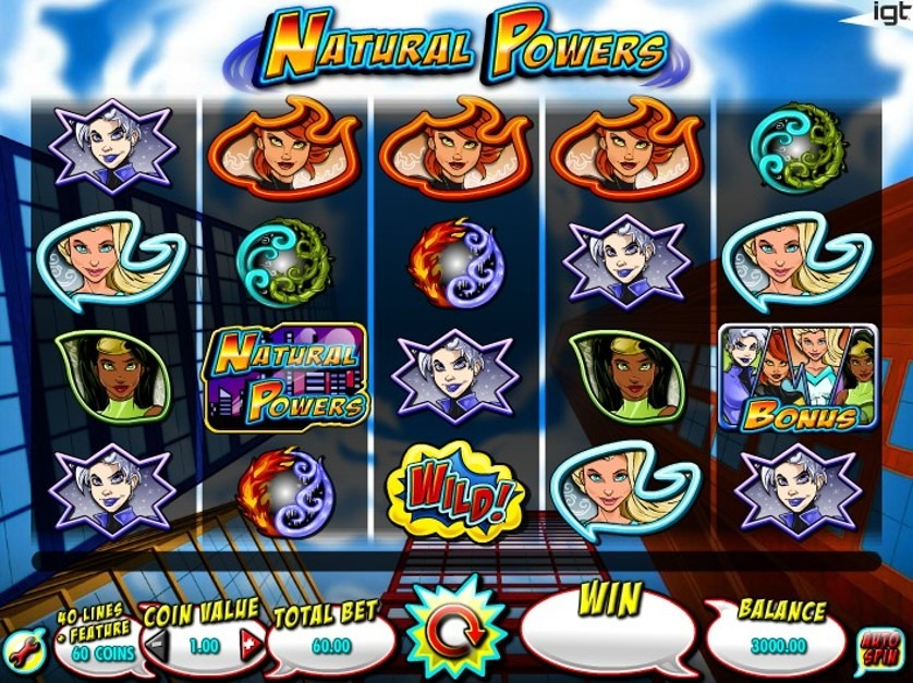 Natural Powers Slot Machine - How to Play