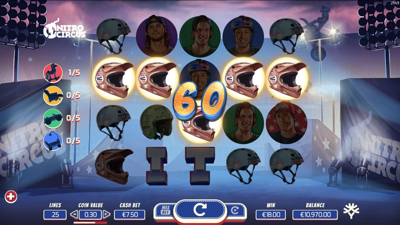 Nitro Circus Slot Machine - How to Play