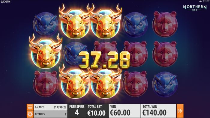 Northern Sky Slot Machine - How to Play