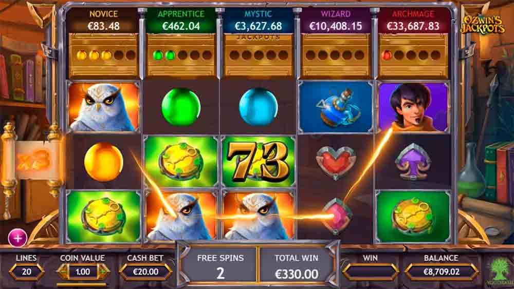 Ozwins Jackpots Slot Machine - How to Play