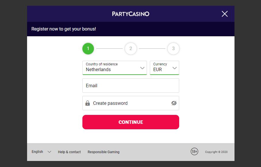 party casino login