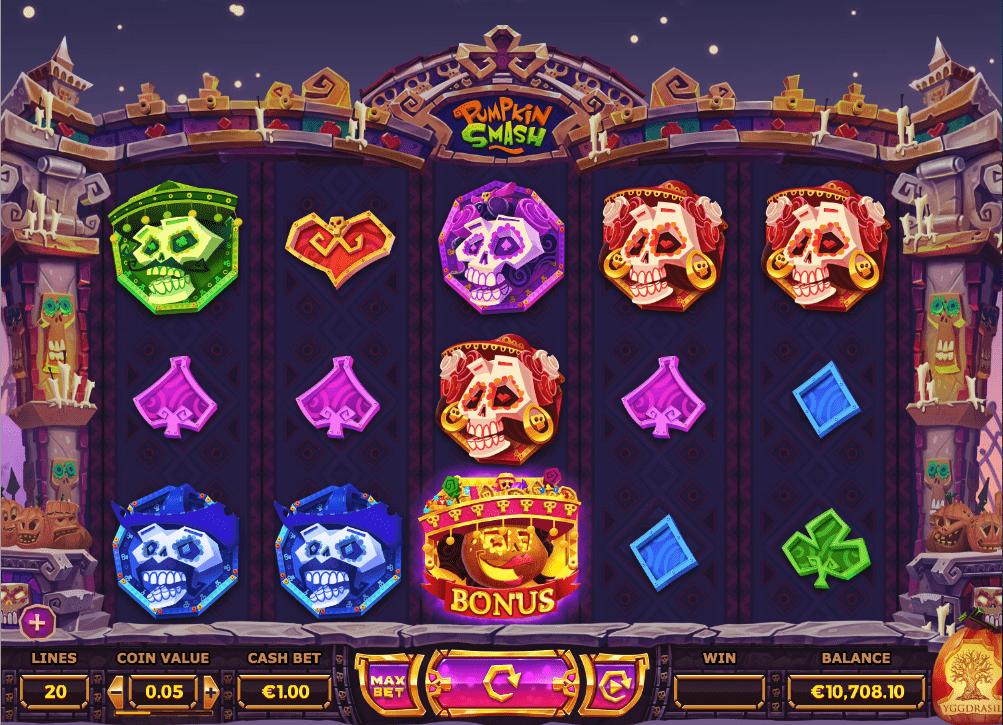 Pumpkin Smash Slot Machine - How to Play