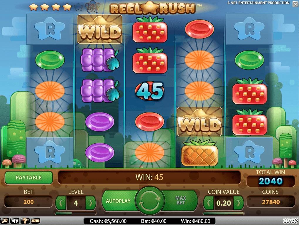 Reel Rush Slot Machine - How to Play