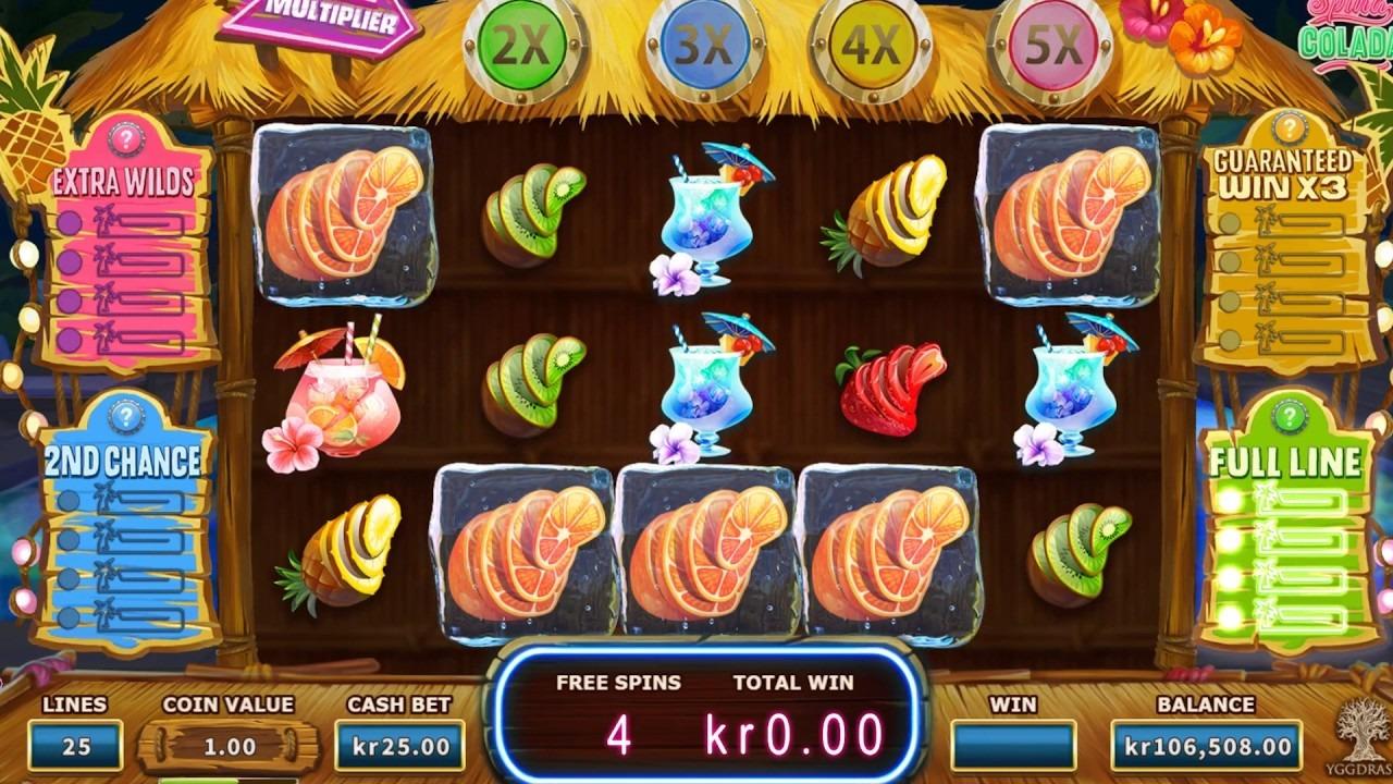 Spina Colada Slot Machine - How to Play