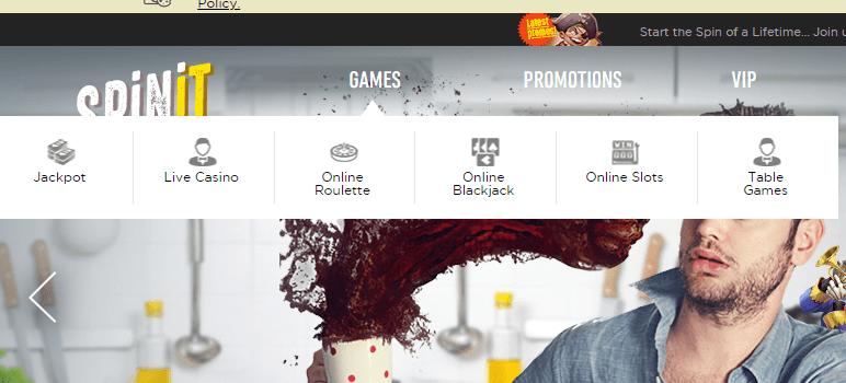 spinit casino games