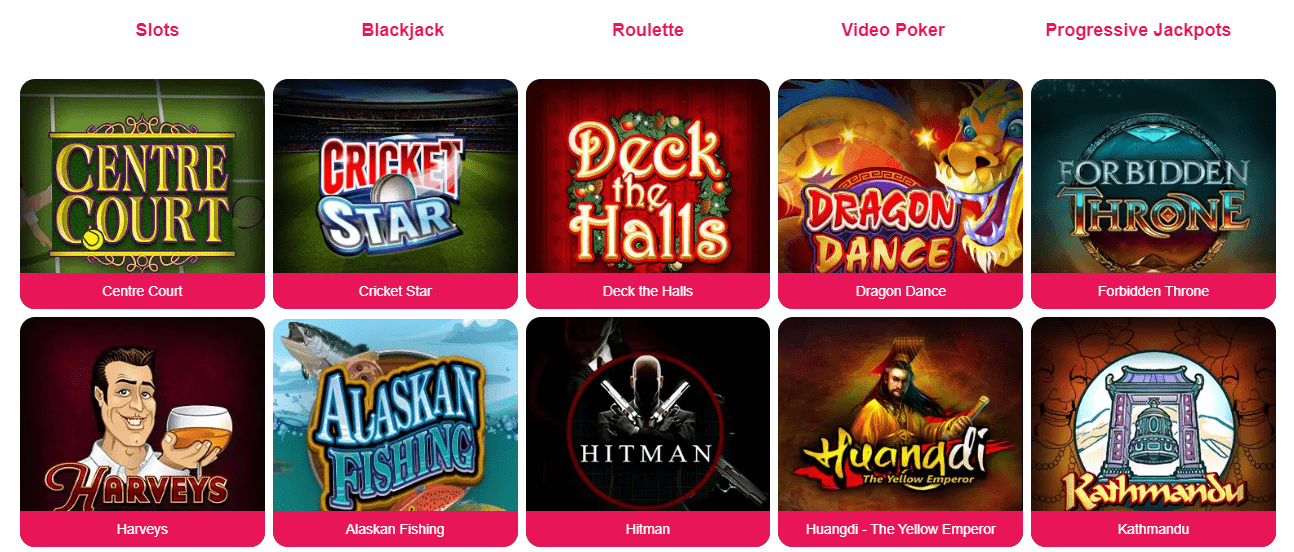 spinpalace casino games