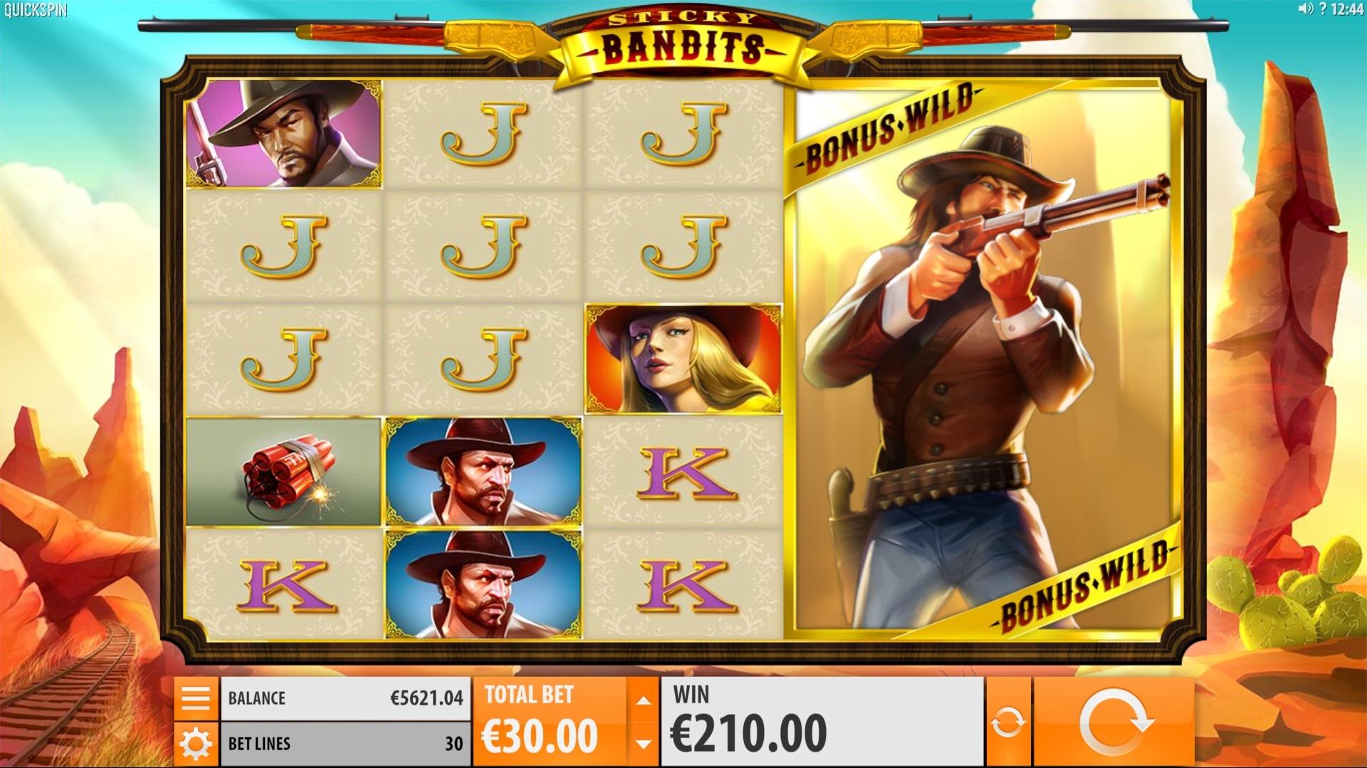 Sticky Bandits Slot Machine - How to Play