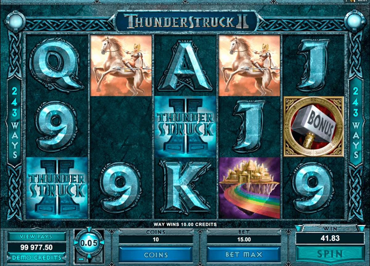 Thunderstruck II Slot Machine - How to Play
