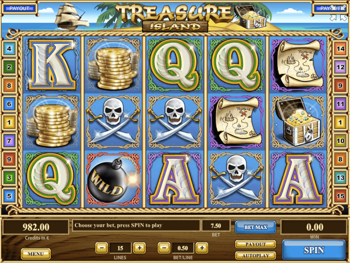 Treasure Island Slot Machine - How to Play