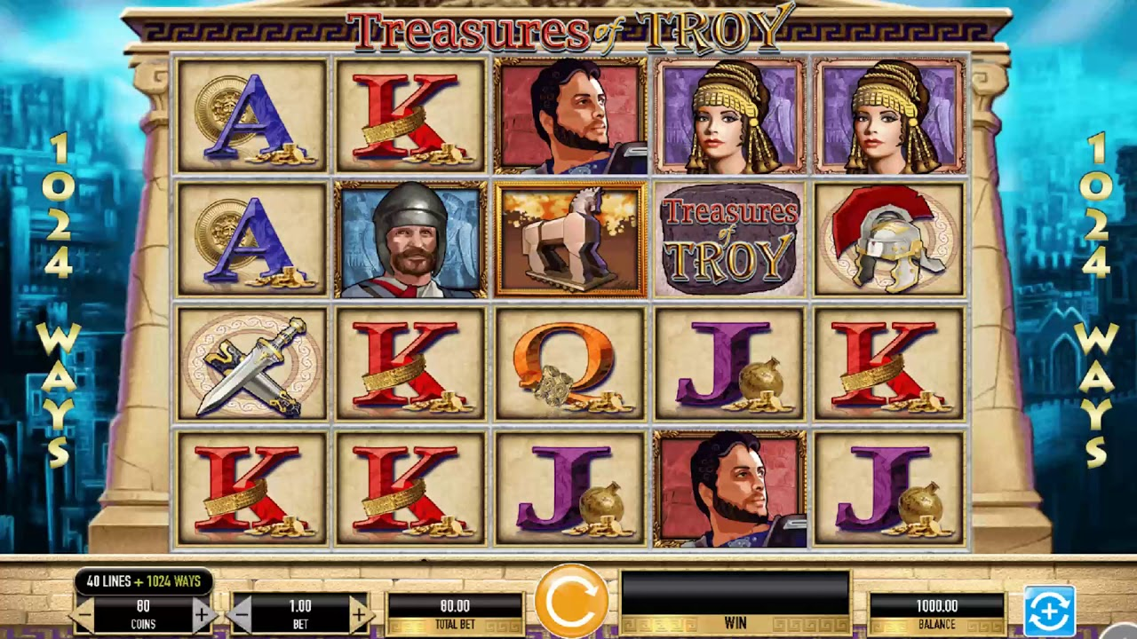 Treasures of Troy Slot Machine - How to Play