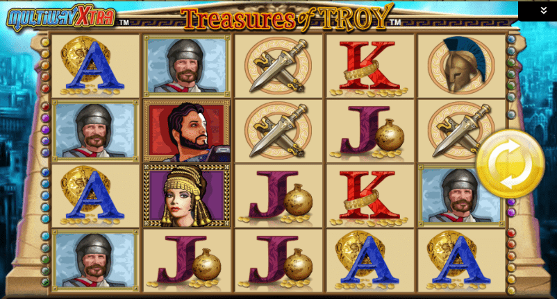 Treasures of Troy Slot Game Symbols and Winning Combinations