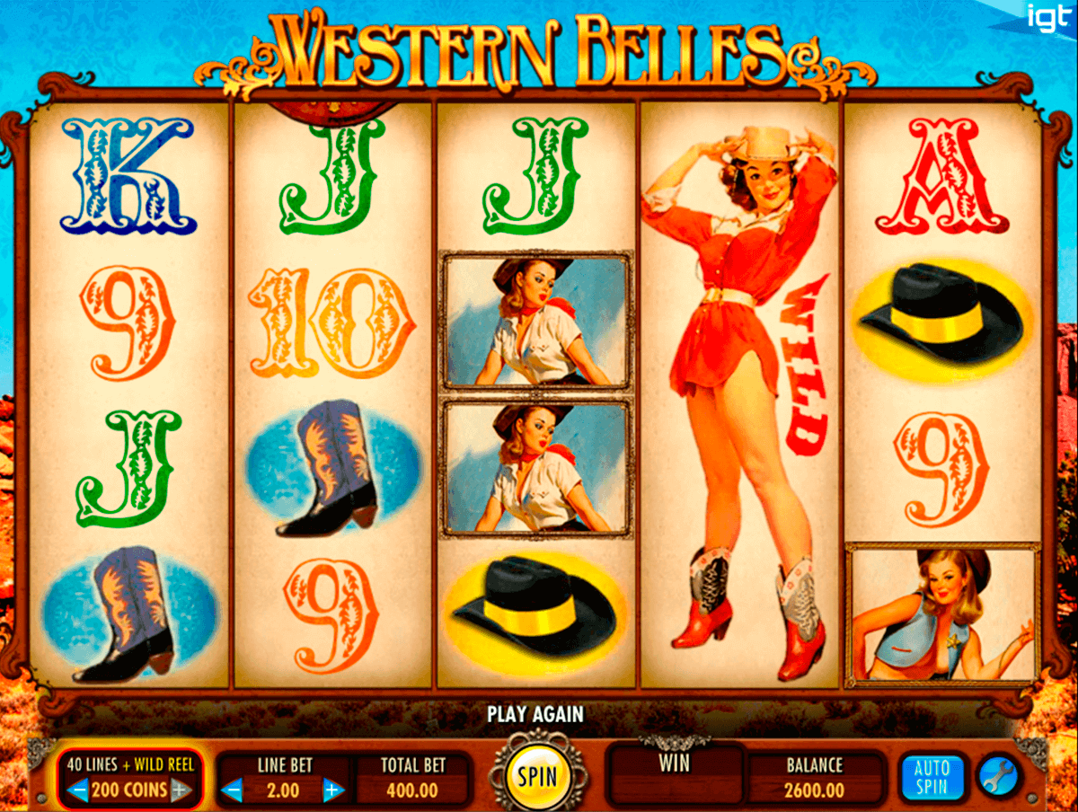 Western Belles Slot Machine - How to Play