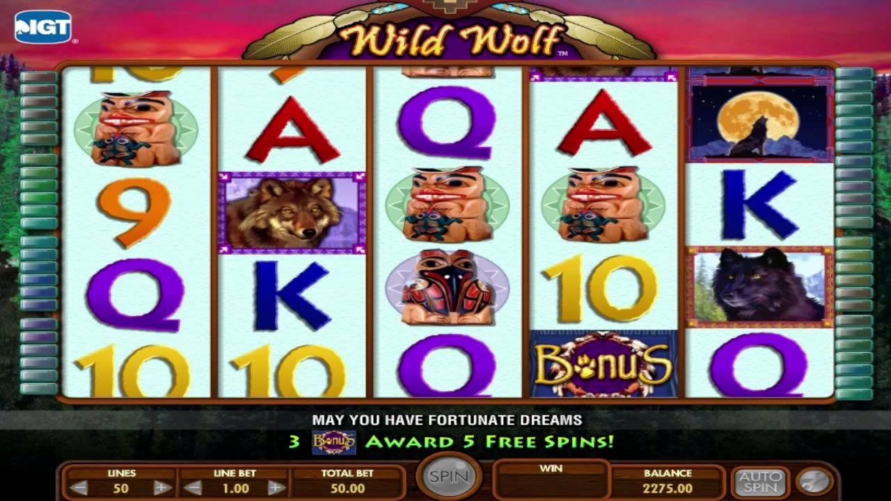 Wild Wolf Slot Machine - How to Play