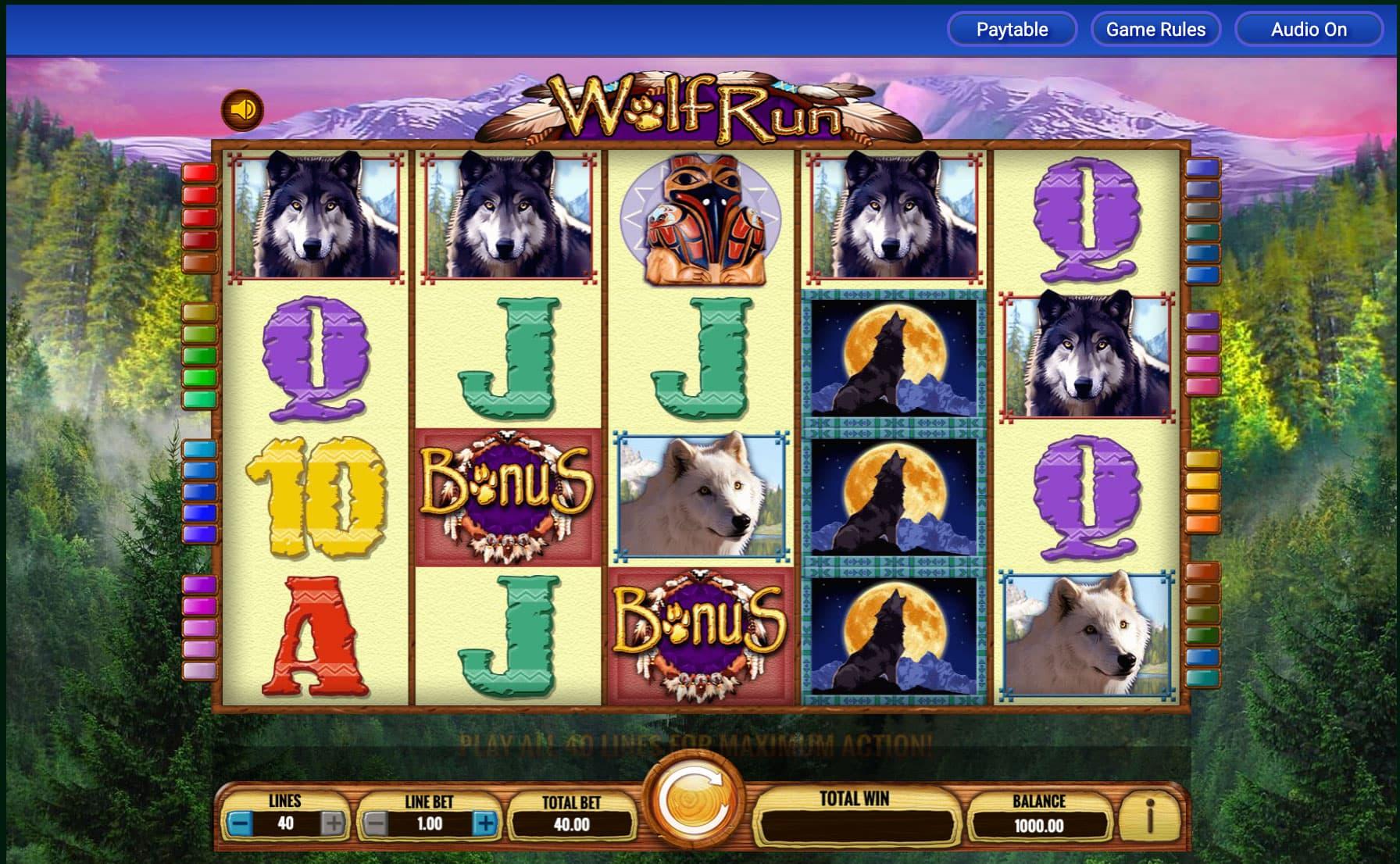 Wolf Run Slot Machine - How to Play